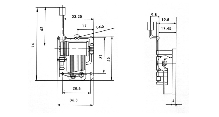 MB-32 mechanism drawing
